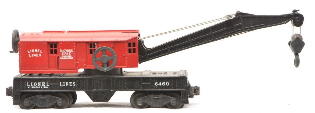 67: Lionel 6460-25 Crane Car w/Red Painted Cab