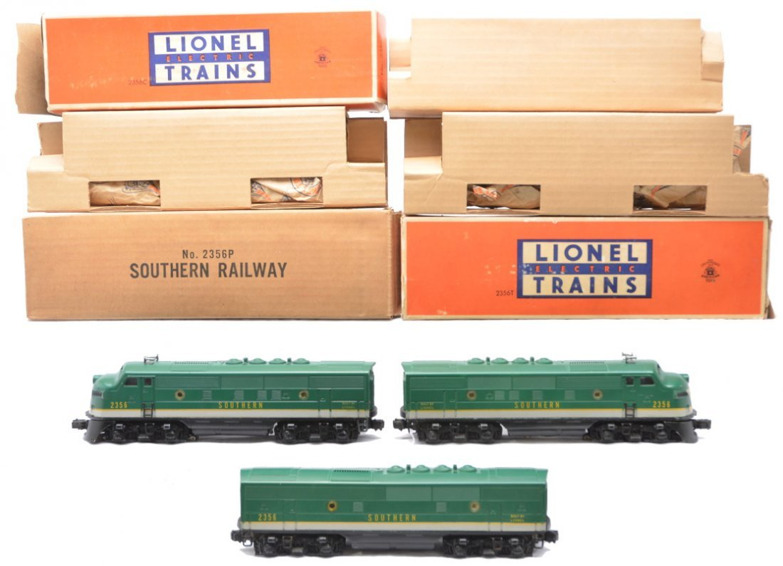 68: Lionel 2356P/C/T Southern F3 ABA Diesels OBs