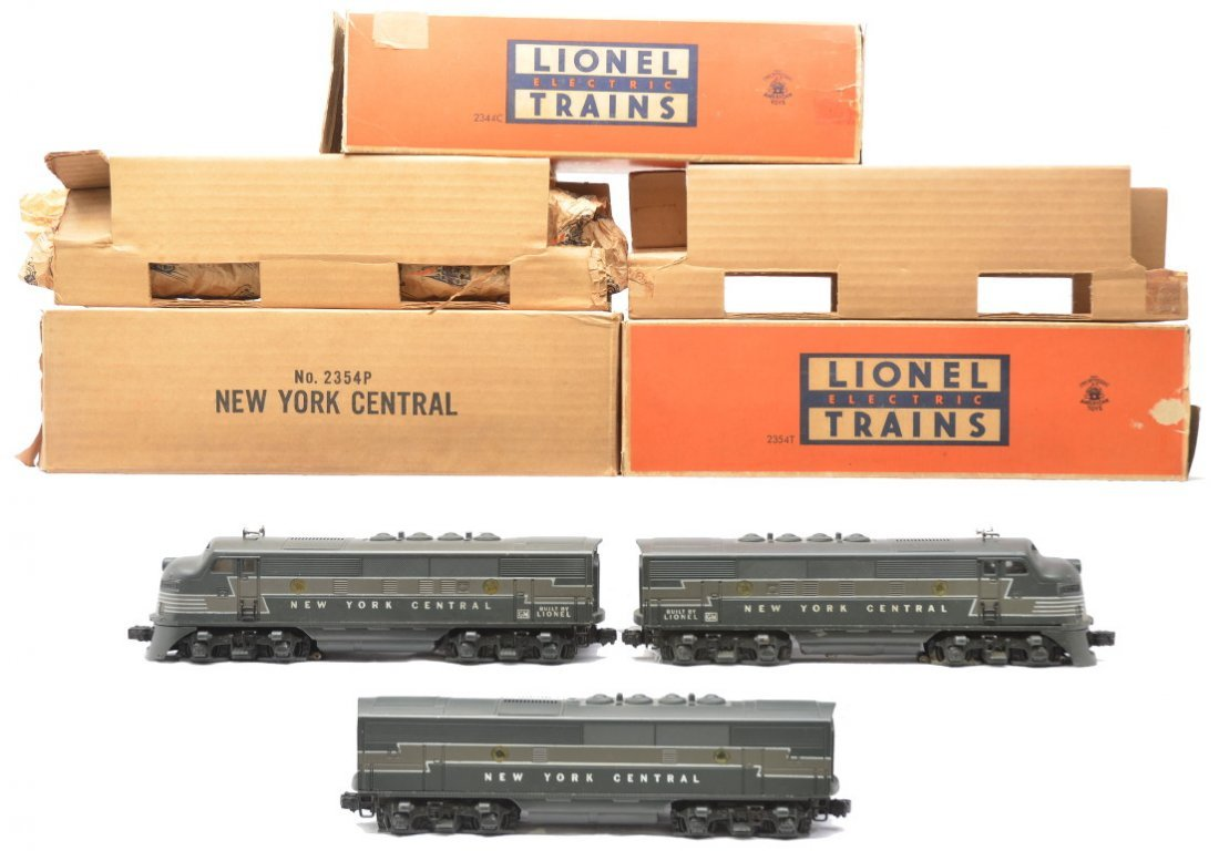 72: Lionel 2354P/T 2344C NYC F3 ABA Diesels OBs