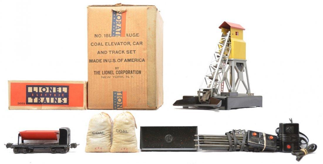 75: Lionel 188 Coal Elevator 3659 Dump Car RCS OB