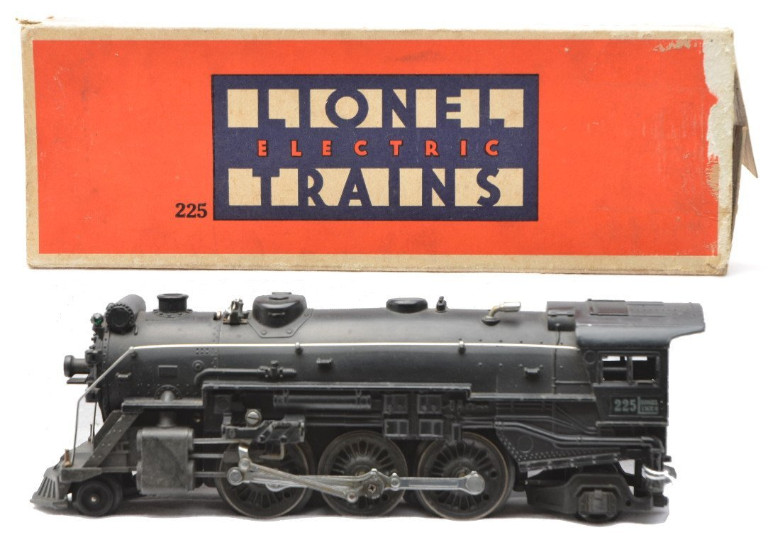 76: Lionel Prewar 225 Black Steam Loco Boxed