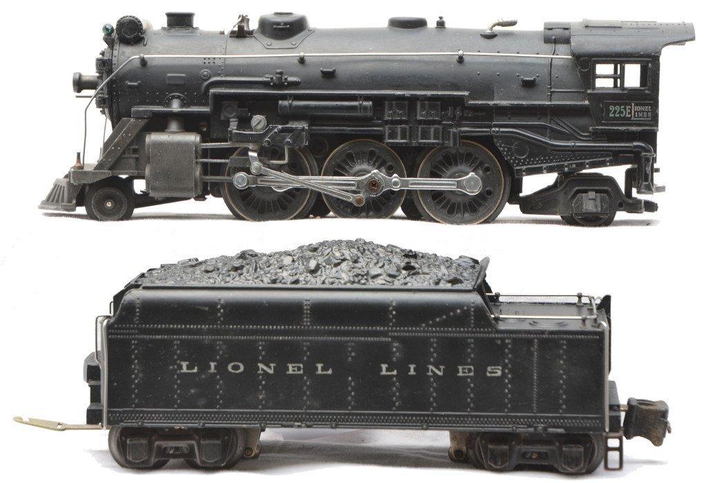 78: Lionel 225E Black Steam Loco 2224W Tender
