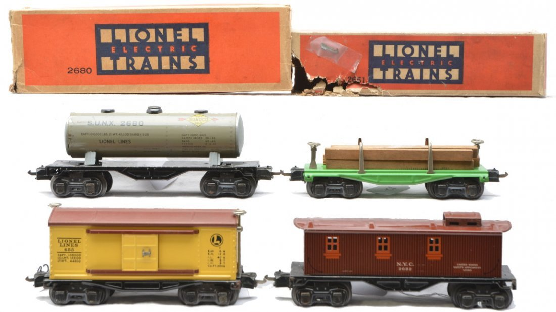 82: Lionel Freights 2680 2651 OBs 655 2682