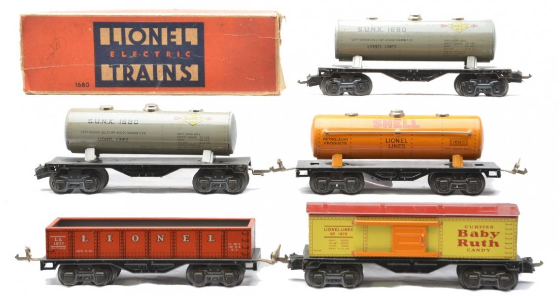 83: Lionel Litho Freights 1680 1680 1680 1679 1677