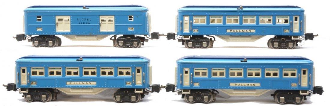 86: Lionel Blue Comet Passenger Cars 2615 3-2613