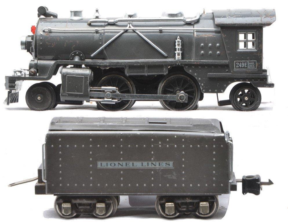 89: Lionel 249E Gunmetal Steam Loco 265W Tender