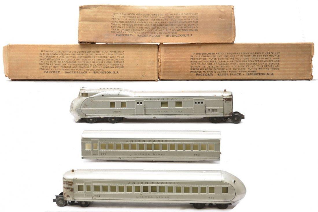91: Lionel Aluminum UP Streamliner Pass Set 751E