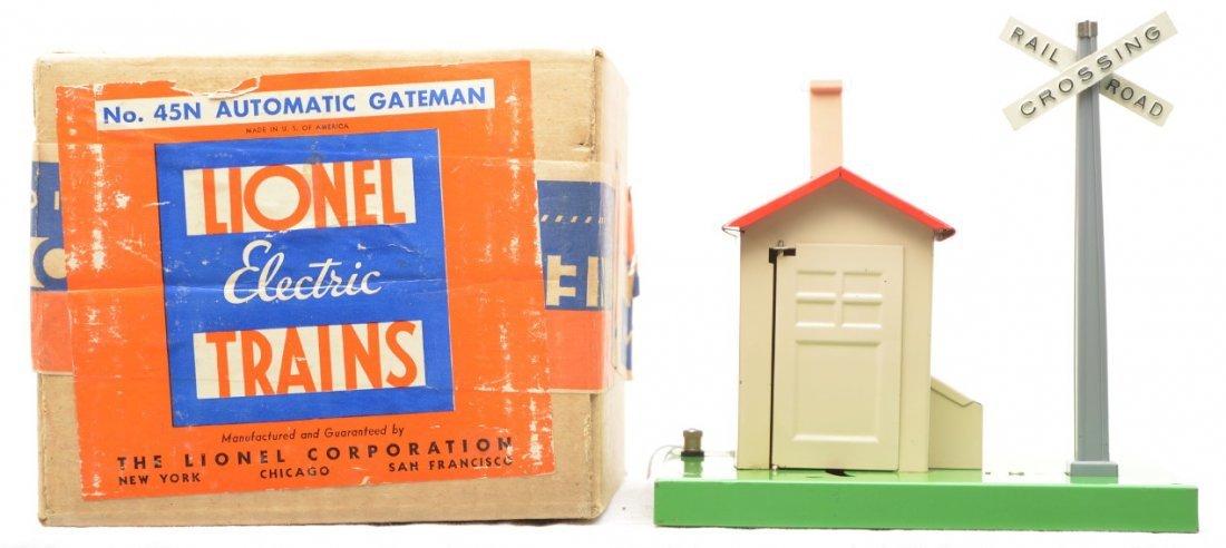 95: Lionel Prewar 45N Automatic Gateman Boxed