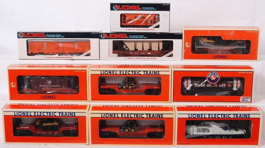 17: 10 Lionel freight cars 26133, 16670, 16955, etc