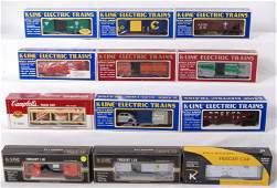 40 12 K Line freight cars WP PRR SF etc