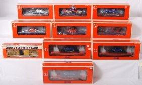 10 Lionel Freight Cars 19483, 19444, 26039, Etc