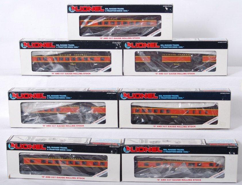 75: 7 Lionel Illinois Central passenger cars 16047 etc