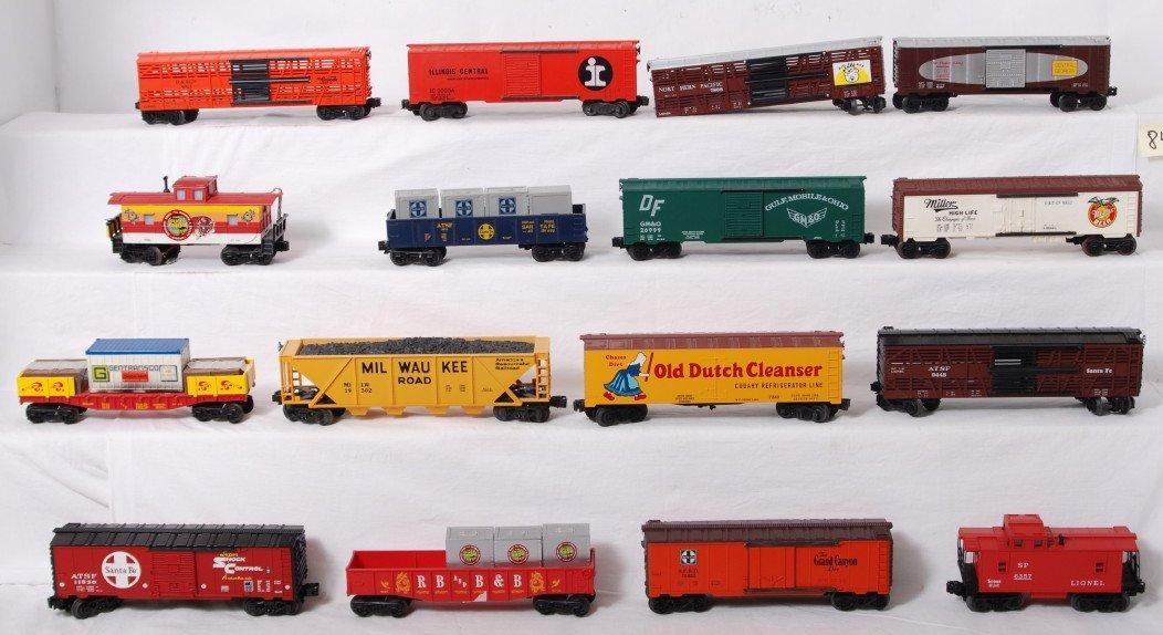 84: 16 O gauge freight cars