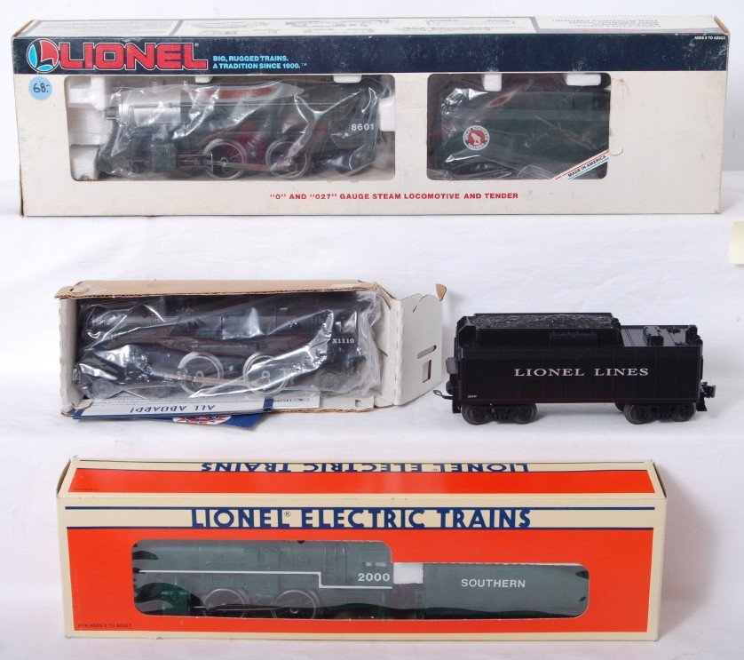 87: 3 Lionel steam locomotives 18601, 18711, X1110