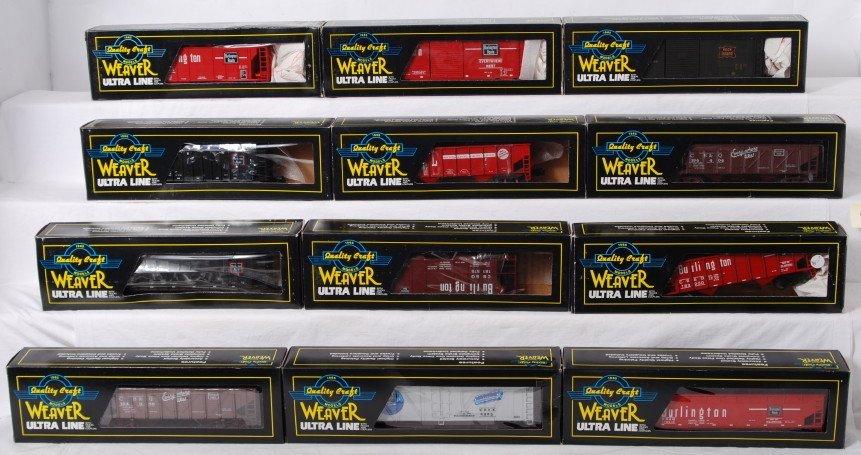 92: 12 Weaver freight cars CB&Q, Rock Island, etc.