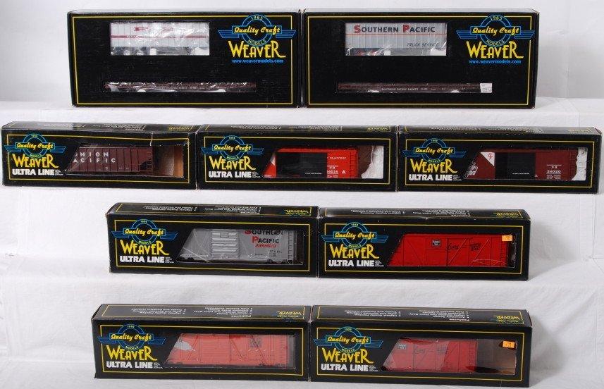 93: 9 Weaver 2 rail freight cars CB&Q UP, etc