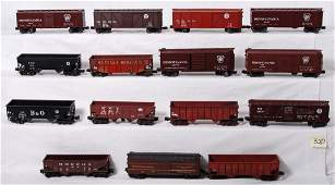 320: 15 freight cars Pennsylvania, B&O , etc