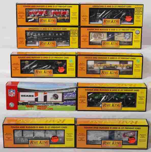 372: 10 Rail king cars Cubs, Bears, Southern Pacific, P