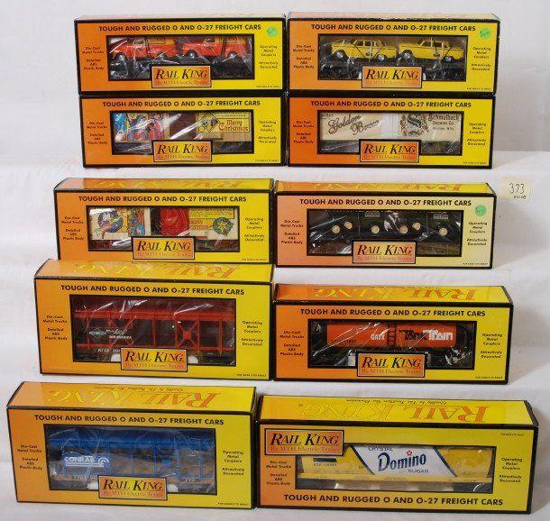 373: 10 Rail king cars Domino, Conrail, Illinois Centra