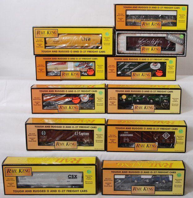 374: 11 Rail king cars Breyers, Erie Lackawanna, CSX, e