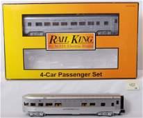 451: Rail king Santa Fe 4 car streamlined passenger set