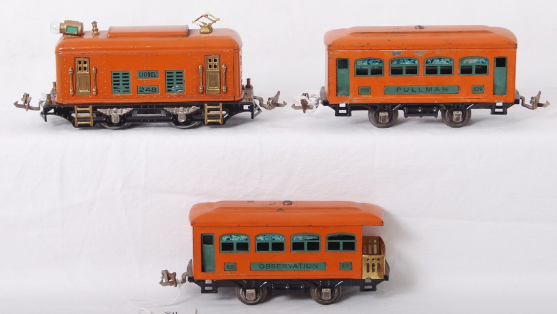 811: Lionel 248, 629, 630 electric passenger train