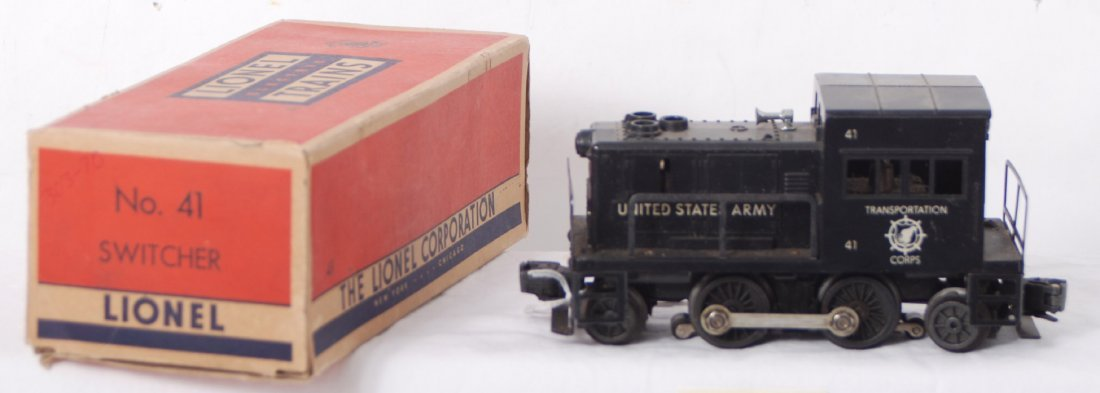 814: Lionel 41 U. S. Army industrial diesel switcher in