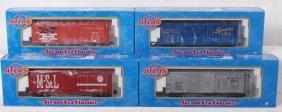 4 Atlas O ARR Single Door Box Cars FEC, NH, NKP, E