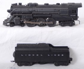 Lionel 2046 Steam Locomotive And 2046W Tender W/wh