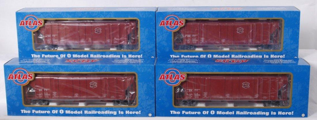 921: 4 Atlas O MKT low side hoppers