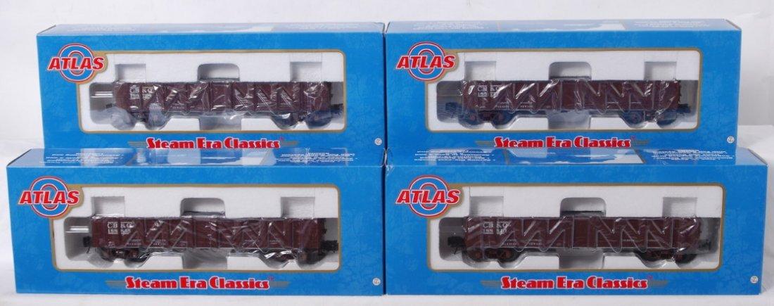 922: 4 Atlas O Burlington USRA composite hoppers