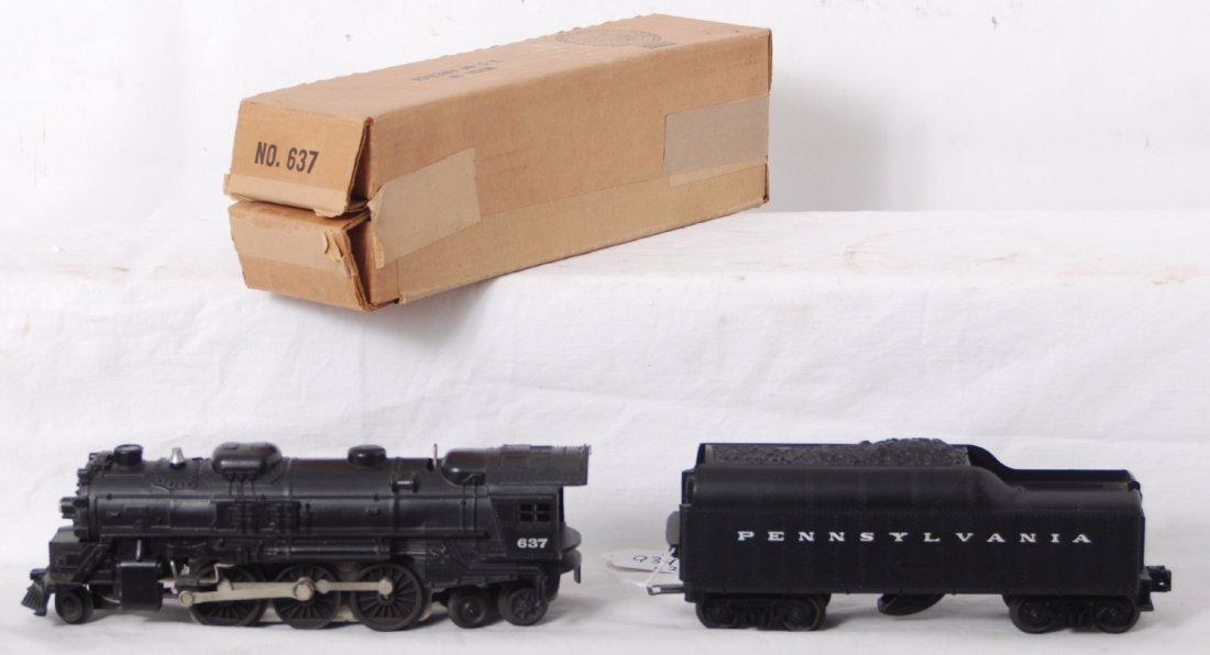 934: Lionel 637 steam loco and Pennsylvania whistle ten