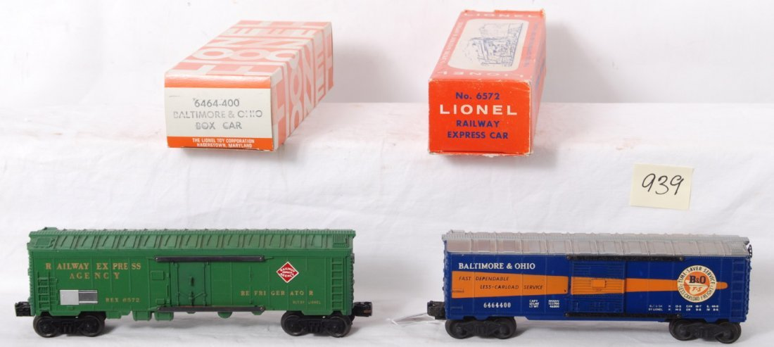 939: Lionel 6464-400 B&O and 6572 REA in OB