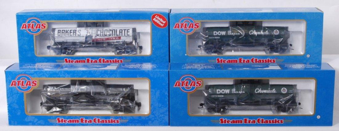 940: 4 Atlas O 11,000 gallon tank cars