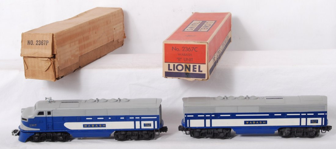 1071: Lionel No. 2367P and 2367C Wabash F3 diesels in O
