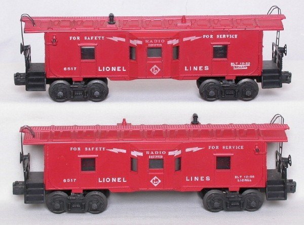 3009: Lionel 6517 bay-window cabooses, 2 versions
