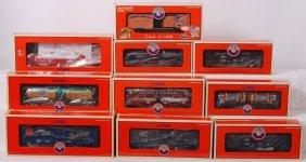2: 10 Lionel club cars 52455, 52385, 52506, etc