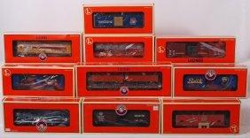 3: 10 Lionel freight cars 52187, 27564, 17626, etc.