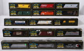 15 Weaver Freight Cars, CNW, Amtrak, Soo Line, Etc.