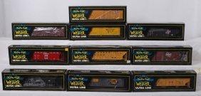 7: 10 Weaver freight cars GB&W, Mil, CNW, etc