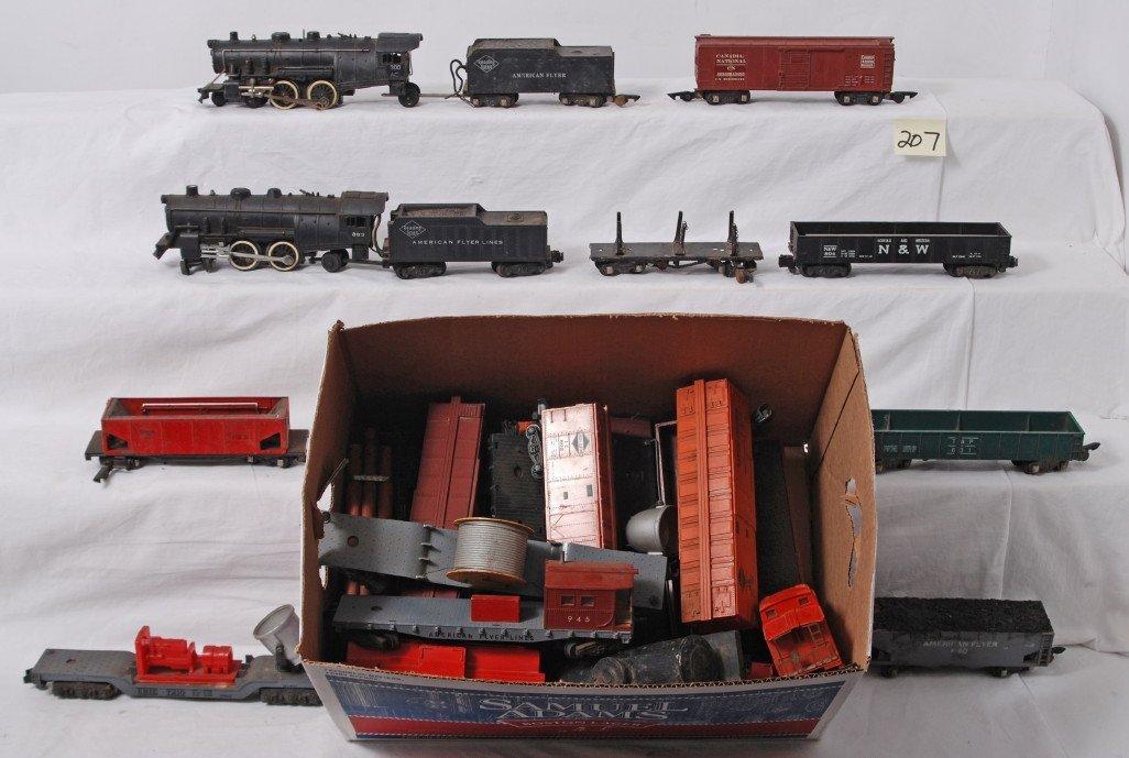 207: Huge lot of American Flyer S gauge freight trains