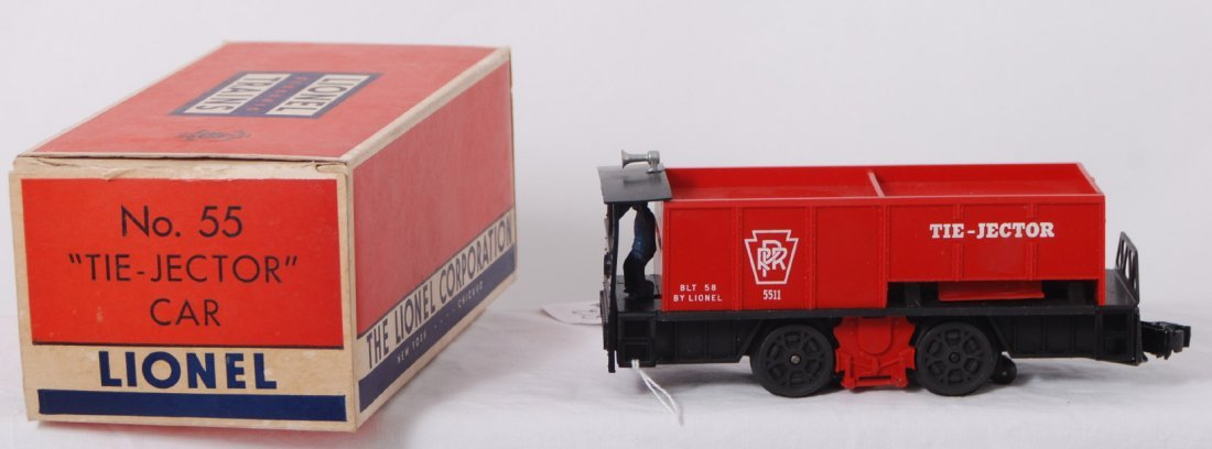 812: Lionel No. 55 Tie-Jector with slot behind driver i