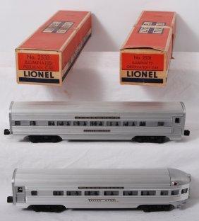 Lionel 2531 And 2533 Aluminum Passengers In OB
