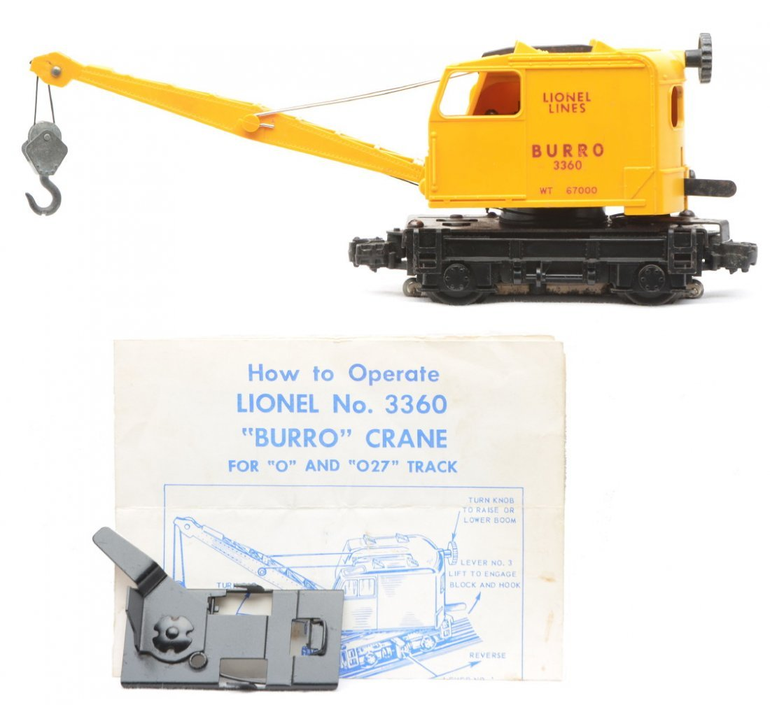 3: Lionel Postwar 3360 Burro Crane