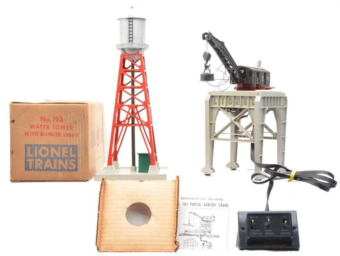 8: Lionel 198 Water Tower OB 282 Portal Crane