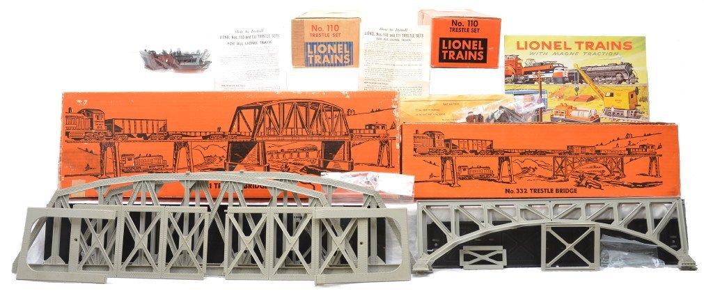 15: Lionel Trestle 2-110 Sets 321 332 Bridges OBs