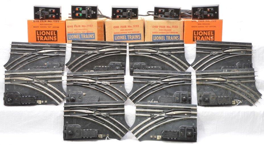 22: Lionel 5 Prs. of 1122 Remote Control Switches OBs