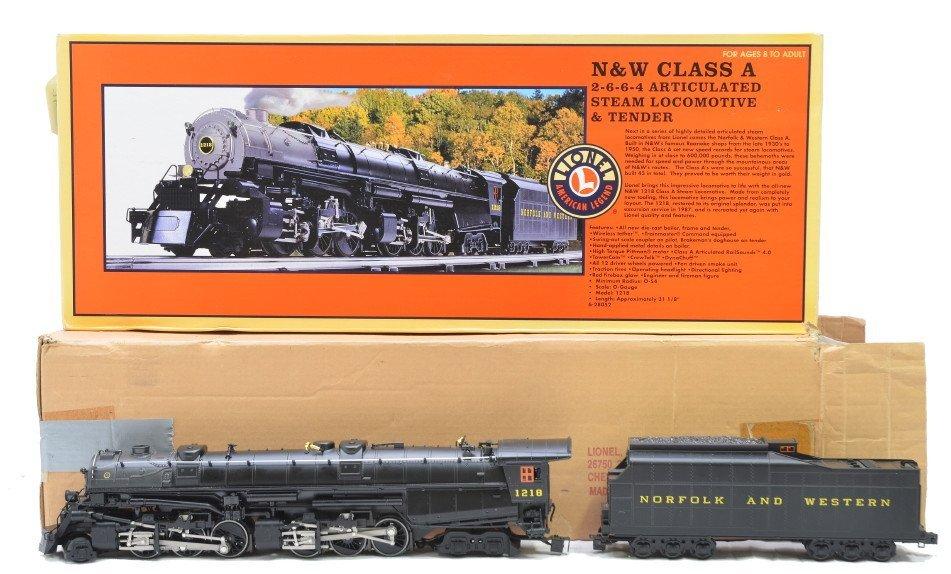 176: Lionel 28052 N&W Class A Loco Tender LN OB