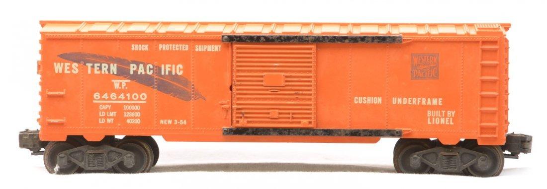 346: Lionel 6464-100 Orange WP Type IIa Boxcar