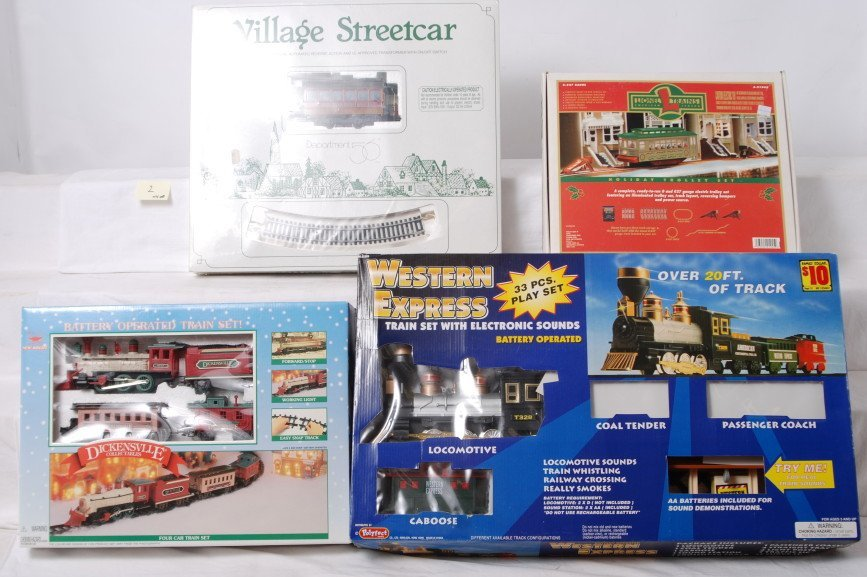 2: Lionel Holiday trolley, dept. 56 set, and more